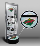 Minnesota Wild Hockey Puck Ticket Display Stand