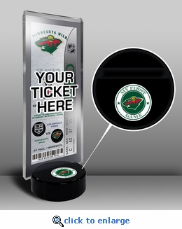 Minnesota Wild My First Game Hockey Puck Ticket Stand