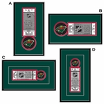 Minnesota Wild Single Ticket Frame