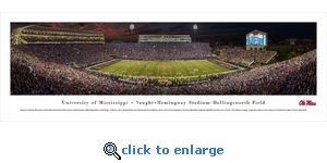 Mississippi Rebels Football - Panoramic Photo (13.5 x 40)