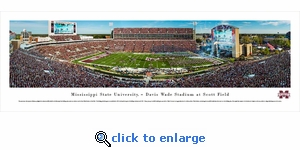 Mississippi State Bulldogs Football - Panoramic Photo (13.5 x 40)