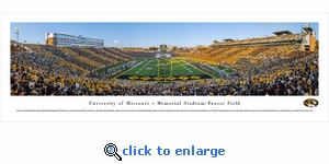 Missouri Tigers Football - End Zone - Panoramic Photo (13.5 x 40)