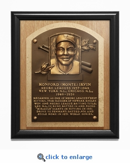 Monte Irvin Baseball Hall of Fame Plaque Framed Print - Newark Eagles, New York Giants