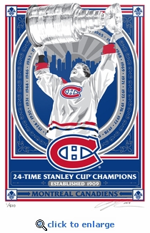 Montreal Canadiens 24-Time Champions Limited Edition Sports Propaganda Serigraph