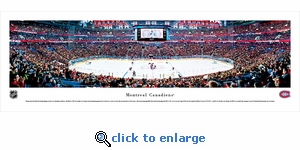 Montreal Canadiens - Face Off - Panoramic Photo (13.5 x 40)