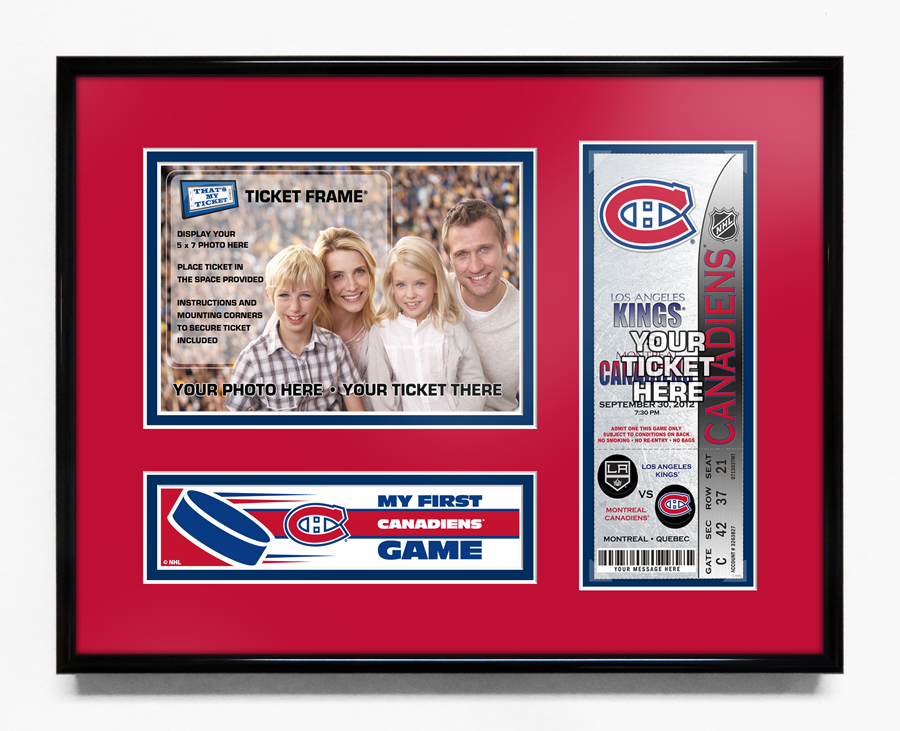 Montreal Canadiens My First Game 5x7 Photo Ticket Frame