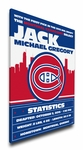 Montreal Canadiens Personalized Canvas Birth Announcement - Baby Gift