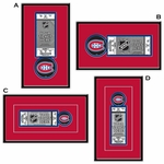 Montreal Canadiens Single Ticket Frame