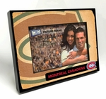 Montreal Canadiens Vintage Style Black Wood Edge 4x6 inch Picture Frame