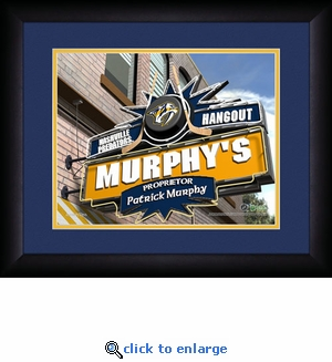 Nashville Predators Personalized Sports Room / Pub Print