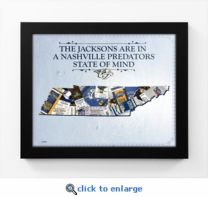 Nashville Predators Personalized State of Mind Framed Print - Tennessee