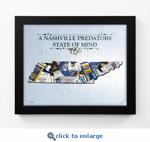 Nashville Predators State of Mind Framed Print - Tennessee