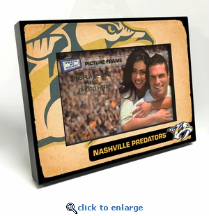 Nashville Predators Vintage Style Black Wood Edge 4x6 inch Picture Frame