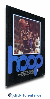 Nate Archibald 1976 NBA Game Program Cover on Canvas - Kansas City Kings