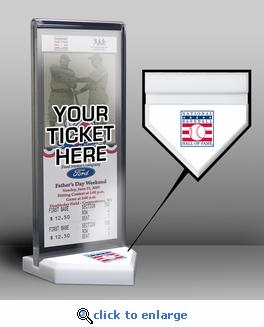 National Baseball Hall of Fame Home Plate Ticket Display Stand