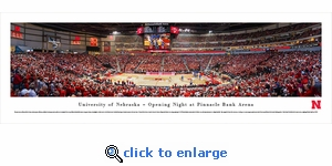 Nebraska Cornhuskers Basketball - Panoramic Photo (13.5 x 40)