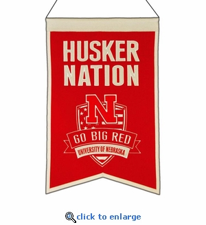 Nebraska Cornhuskers Nations Wool Banner (14 x 22)