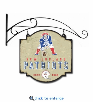 New England Patriots 16 X 16 Metal Tavern / Pub Sign