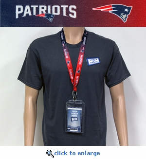 New England Patriots Lanyard Key Chain Bottle Opener and Ticket Holder