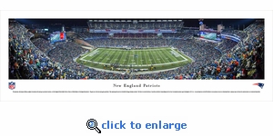 New England Patriots - Night - Panoramic Photo (13.5 x 40)