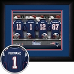 New England Patriots Personalized Locker Room Print