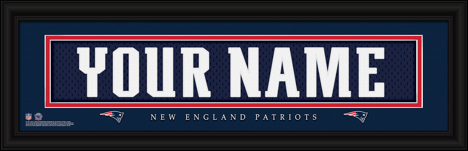 super popular d365a 8ddf2 New England Patriots Personalized Stitched Jersey Nameplate Framed Print