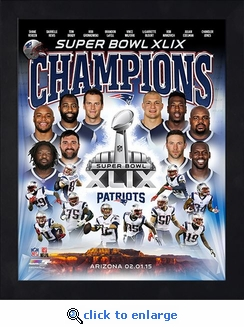 New England Patriots Super Bowl 49 Champions Framed 11x14 Collage Photo