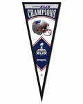 New England Patriots Super Bowl 49 Champions Pennant Frame