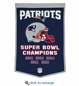 New England Patriots Super Bowl Dynasty Wool Banner (24 x 36)