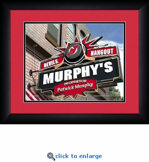 New Jersey Devils Personalized Sports Room / Pub Print
