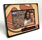 New Jersey Devils Vintage Style Black Wood Edge 4x6 inch Picture Frame