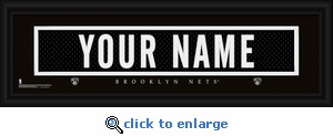 New Jersey Nets Personalized Stitched Jersey Nameplate Framed Print