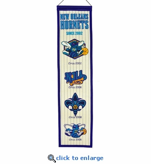 New Orleans Hornets Heritage Wool Banner (8 x 32)