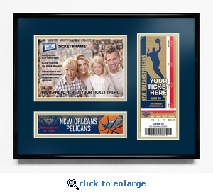 New Orleans Pelicans 5x7 Photo Ticket Frame