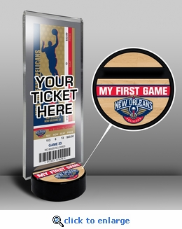 New Orleans Pelicans My First Game Ticket Display Stand