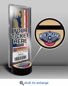 New Orleans Pelicans Ticket Display Stand