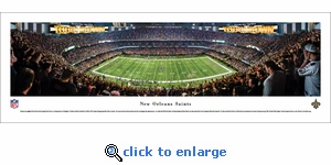 New Orleans Saints - 50 Yard Line - Panoramic Photo (13.5 x 40)