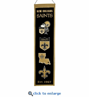 New Orleans Saints Heritage Wool Banner (8 x 32)