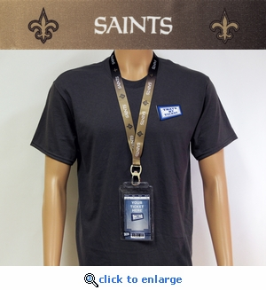 New Orleans Saints Lanyard Key Chain Bottle Opener and Ticket Holder