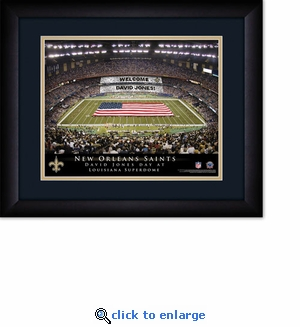 New Orleans Saints Personalized Mercedes-Benz Superdome Print