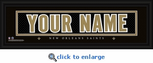 New Orleans Saints Personalized Stitched Jersey Nameplate Framed Print