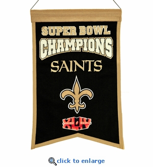 New Orleans Saints Super Bowl Champions Wool Banner (14 x 22)