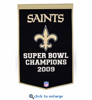New Orleans Saints Super Bowl Dynasty Wool Banner (24 x 36)