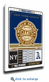 New York Giants 1905 World Series Champions Canvas Print