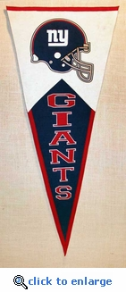 New York Giants Classic Wool Pennant (17.5 X 40.5)