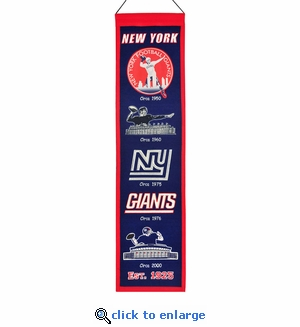 New York Giants Heritage Wool Banner (8 x 32)