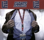 New York Giants NFL Lanyard Key Chain and Ticket Holder - Red