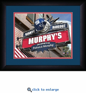 New York Giants Personalized Sports Room / Pub Print