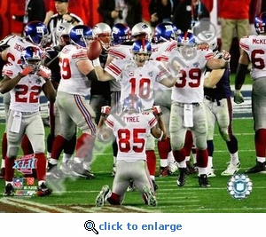 New York Giants Team Celebration Super Bowl XLII 2008 8x10 Photo