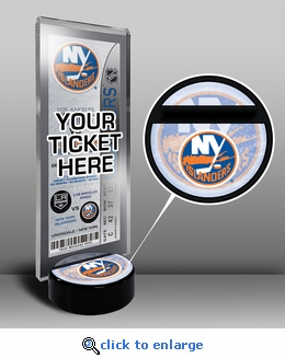 New York Islanders Hockey Puck Ticket Display Stand